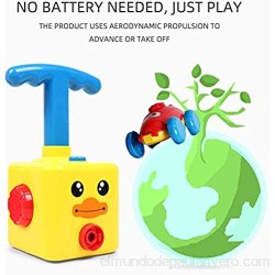 N / A Upgraded Inertial Power Balloon Car with Launch Tower Fun Inflatable Pump Balloon inflator Science Experiment Vehicle Power Ball Car Toy for Kids Gift (C)