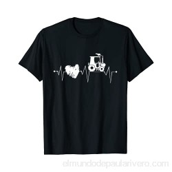 Tractor with Heart Farming Heartbeat Tractor Driver Camiseta