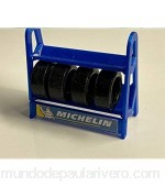 Greenhills Scalextric Carrera Tyre Rack with 4 x Tyres in Blue 1.32 Scale- New - G2076