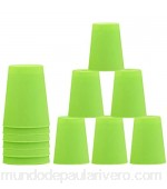 ZoneYan Stacking Cups 12pcs/Set Cups Juego Stacking Juego Vasos Stacking Tazas de Juguete Apilables Uno Stacko con Tutoriales Stacking Cup Quick Challenge Party Game Toys Verde