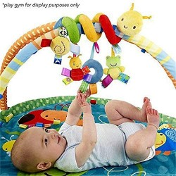 WoRamy Crib Spiral Toy Stroller Toy Bed Hanging Toys with Ringing Bell Baby Car Seat Toy Activity Spiral Plush Toys Stroller and Travel Activity Toy