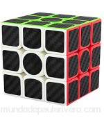 LSMY Speed Cube 3x3x3 Puzzle Mágico Cubo Carbon Fiber Sticker Toy