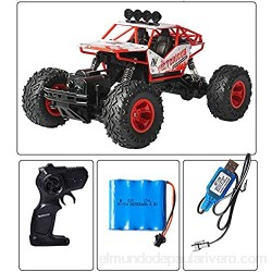 AIOJY 2.4G Off-Road Drifbing Hobby RC Vehículo Buggy Monster RC Monster RC 1/16 Dual-Motor Stimbating RC Truck Niño Navidad Control Remoto Toy Toy Coche Regalo (Color : Azul)