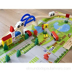 PALESTRAKI Railway crossing with wooden bricks and puzzle pad