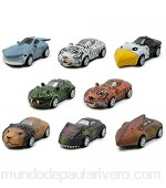GOTRGEOOUS 8pcs Mini Pull Back Cars Toy Animales pequeños Pull Back Vehicles Inercia Car Toy Friction Powered Juguete Educativo para niños/Niños/Niños/Niños pequeños